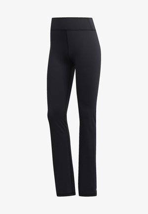 BRUSHED BOOTCUT JOGGERS - Tracksuit bottoms - black