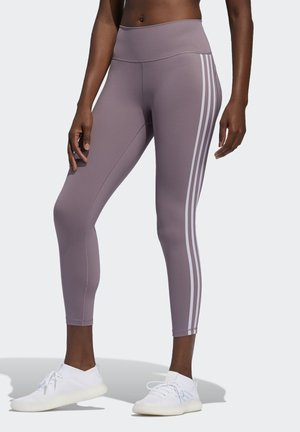 BELIEVE THIS 3-STRIPES 7/8 LEGGINGS - Tights - legacy purple