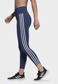 adidas Performance - BELIEVE THIS 3-STRIPES 7/8 LEGGINGS - Collants - tech indigo - 3
