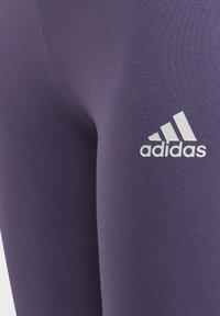 adidas Performance - MUST HAVES 3-STRIPES LEGGINGS - Tracksuit bottoms - tech purple - 2