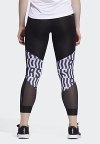 adidas Performance - OWN THE RUN GRAPHIC LEGGINGS - Leggings - black - 1