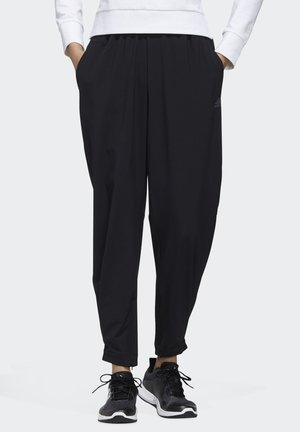 STRETCHABLE WOVEN JOGGERS - Tracksuit bottoms - black