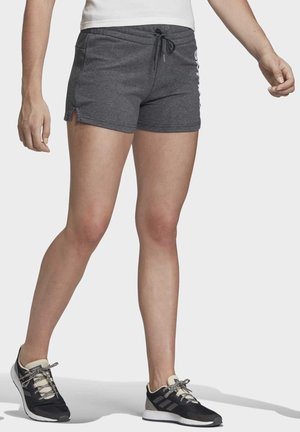 ESSENTIALS LINEAR LOGO SHORTS - kurze Sporthose - grey