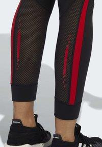 adidas Performance - OWN THE RUN VALENTINE 7/8 LEGGINGS - Collants - black - 6