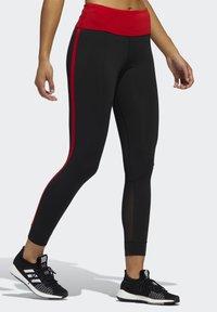 adidas Performance - OWN THE RUN VALENTINE 7/8 LEGGINGS - Collants - black - 0