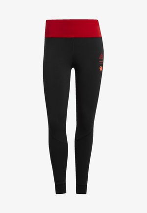 OWN THE RUN VALENTINE 7/8 LEGGINGS - Tights - black