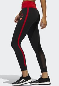 adidas Performance - OWN THE RUN VALENTINE 7/8 LEGGINGS - Collants - black - 2