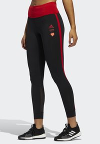 adidas Performance - OWN THE RUN VALENTINE 7/8 LEGGINGS - Collants - black - 3