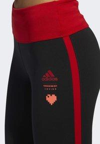 adidas Performance - OWN THE RUN VALENTINE 7/8 LEGGINGS - Collants - black - 4