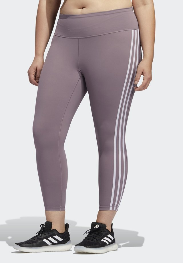 BELIEVE THIS 3-STRIPES 7/8 LEGGINGS - Leggings - purple