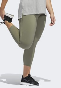 adidas Performance - BELIEVE THIS SOLID 7/8 LEGGINGS - Tights - green - 4
