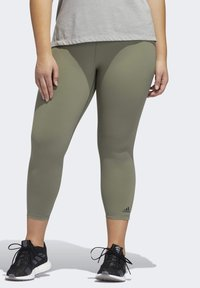 adidas Performance - BELIEVE THIS SOLID 7/8 LEGGINGS - Tights - green - 0
