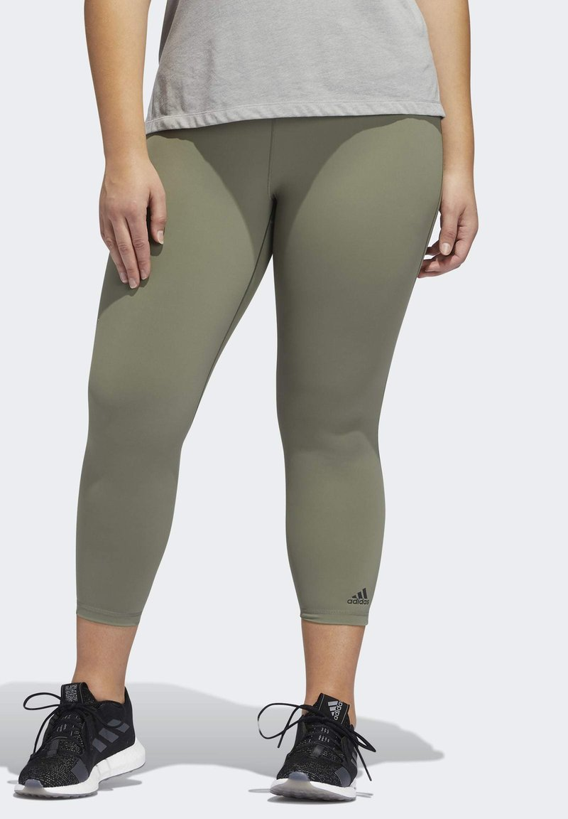 adidas Performance - BELIEVE THIS SOLID 7/8 LEGGINGS - Tights - green