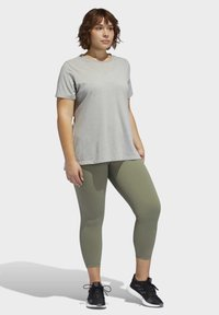 adidas Performance - BELIEVE THIS SOLID 7/8 LEGGINGS - Tights - green - 1