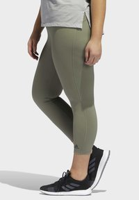 adidas Performance - BELIEVE THIS SOLID 7/8 LEGGINGS - Tights - green - 3