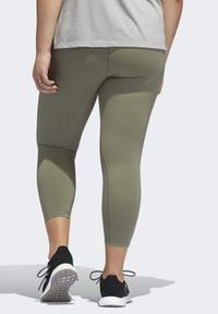 adidas Performance - BELIEVE THIS SOLID 7/8 LEGGINGS - Tights - green - 2