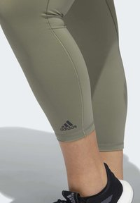adidas Performance - BELIEVE THIS SOLID 7/8 LEGGINGS - Tights - green - 5