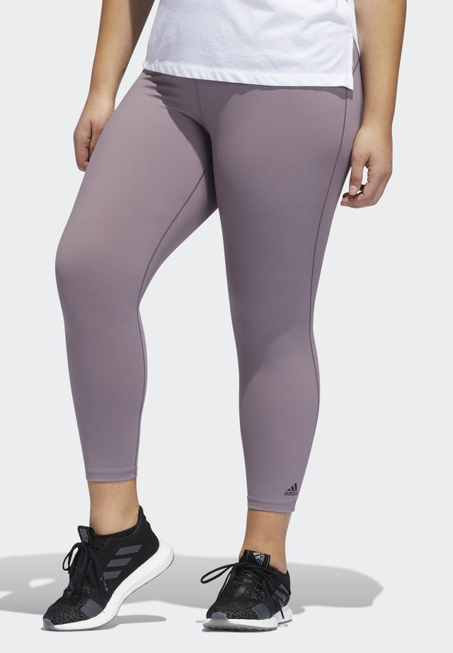 BELIEVE THIS SOLID 7/8 LEGGINGS​ - Leggings - purple