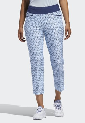 PRINTED PULL-ON ANKLE PANTS - Broek - blue