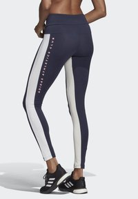 adidas Performance - KEY POCKET LEGGINGS - Leggings - blue/white - 2