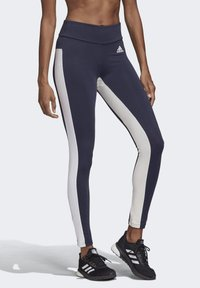 adidas Performance - KEY POCKET LEGGINGS - Leggings - blue/white - 4