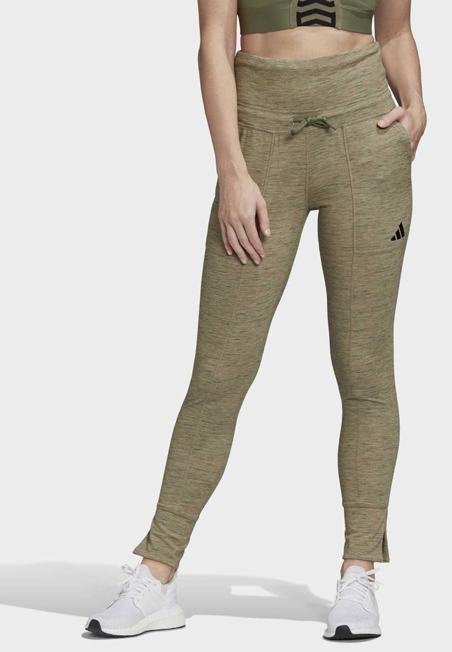 HIGH-WAISTED SLIM - Leggings - green