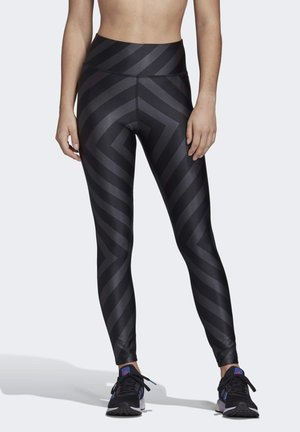 ALLOVER GRAPHIC 7/8 LEGGINGS - Trikoot - black