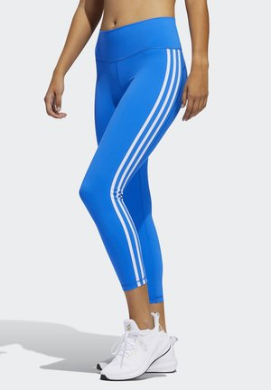 BELIEVE THIS 2.0 3-STRIPES 7/8 LEGGINGS - Leggings - blue