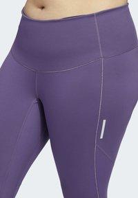 adidas Performance - HOW WE DO 7/8 LEGGINGS  (PLUS SIZE) - Leggings - purple - 7