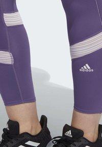 adidas Performance - HOW WE DO 7/8 LEGGINGS  (PLUS SIZE) - Leggings - purple - 5
