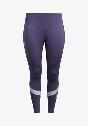 HOW WE DO 7/8 LEGGINGS  (PLUS SIZE) - Tights - purple