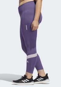 adidas Performance - HOW WE DO 7/8 LEGGINGS  (PLUS SIZE) - Leggings - purple - 3