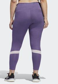adidas Performance - HOW WE DO 7/8 LEGGINGS  (PLUS SIZE) - Leggings - purple - 2