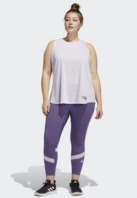 adidas Performance - HOW WE DO 7/8 LEGGINGS  (PLUS SIZE) - Leggings - purple - 1