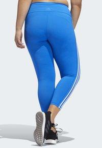adidas Performance - BELIEVE THIS 3-STRIPES 7/8 LEGGINGS (PLUS SIZE) - Legging - blue - 2