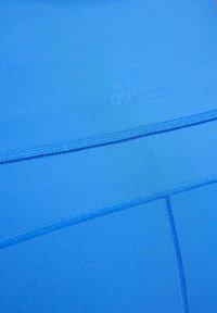 adidas Performance - BELIEVE THIS 3-STRIPES 7/8 LEGGINGS (PLUS SIZE) - Legging - blue - 7