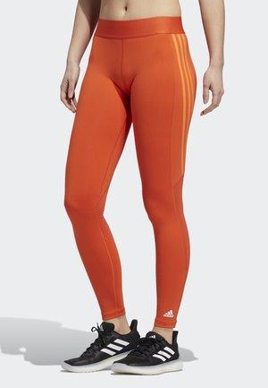 ALPHASKIN 3-STRIPES LONG LEGGINGS - Leggings - orange