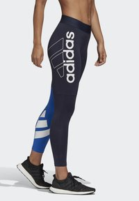 adidas Performance - 2020-03-25 MUST HAVES COLORBLOCK 7/8 LEGGINGS - Leggings - blue - 3