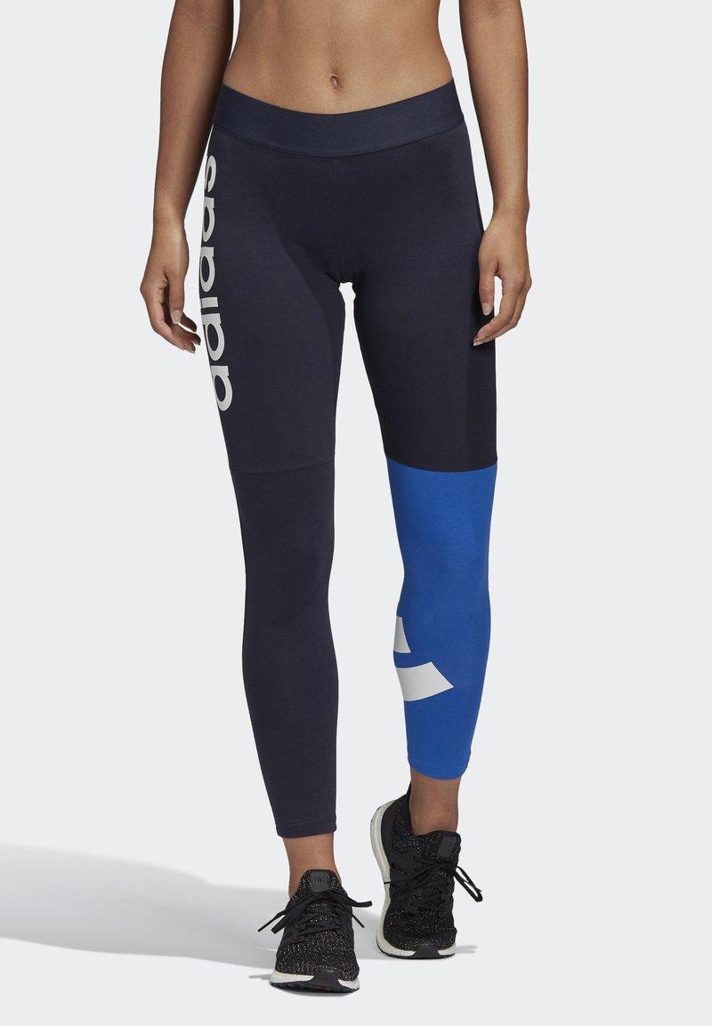 adidas Performance - 2020-03-25 MUST HAVES COLORBLOCK 7/8 LEGGINGS - Leggings - blue