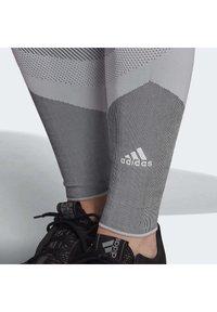 adidas Performance - PRIMEKNIT LEGGINGS - Leggings - grey - 4
