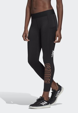 ALPHASKIN 7/8 LEGGINGS - Tights - black