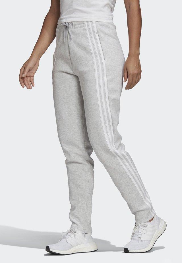 3-Stripes Doubleknit Zipper - Träningsbyxor - Grey