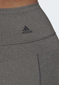adidas Performance - BELIEVE THIS 3-STRIPES 7/8 LEGGINGS (PLUS SIZE) - Legging - grey - 6