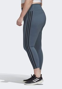 adidas Performance - BELIEVE THIS 3-STRIPES 7/8 LEGGINGS (PLUS SIZE) - Legging - green - 2