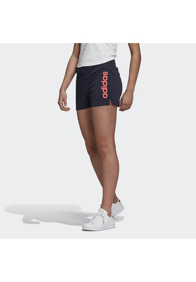 ESSENTIALS LINEAR LOGO SHORTS - kurze Sporthose - blue