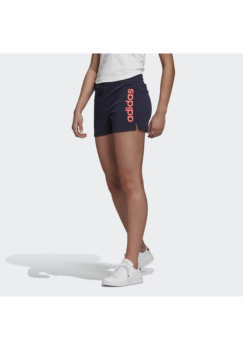 adidas Performance - ESSENTIALS LINEAR LOGO SHORTS - Sports shorts - blue