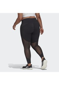 adidas Performance - BELIEVE THIS 3-STRIPES MESH LONG LEGGINGS (PLUS SIZE) - Legging - black - 2