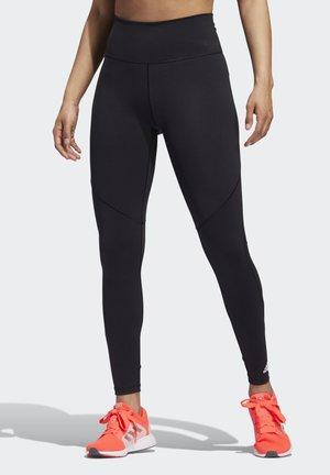 BELIEVE THIS  -STRIPES MESH LONG LEGGINGS - Legging - black