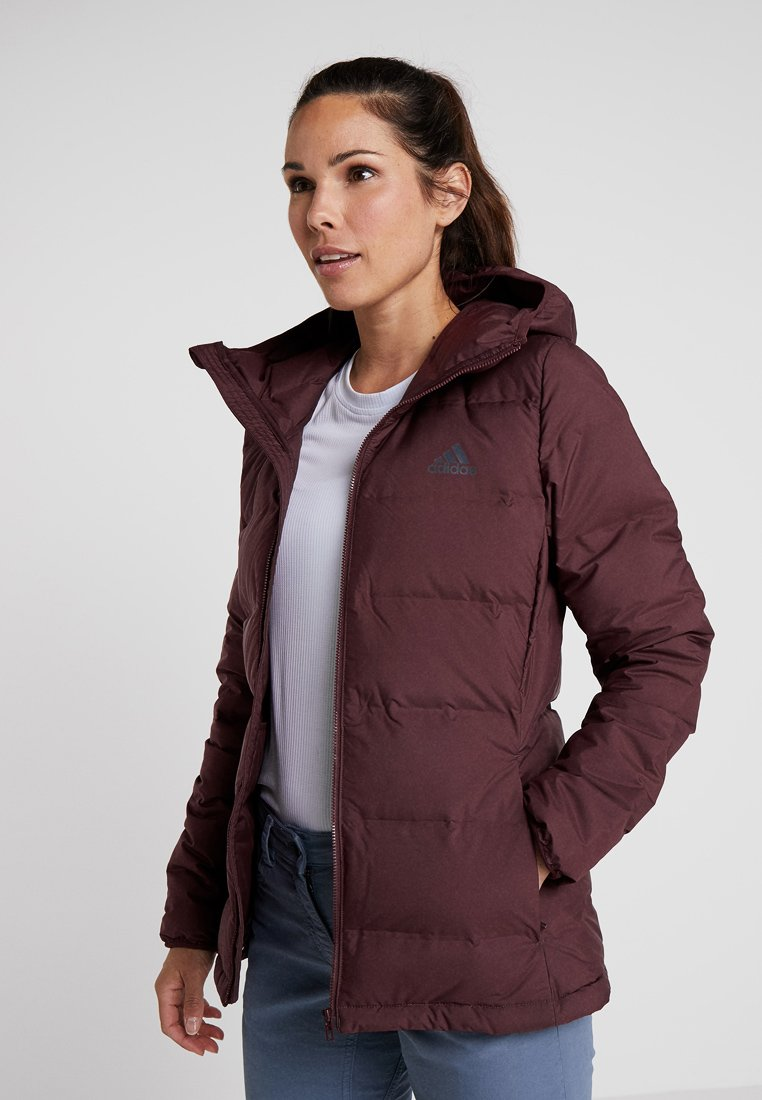 adidas Performance - HELIONIC DOWN JACKET - Winterjacke - maroon