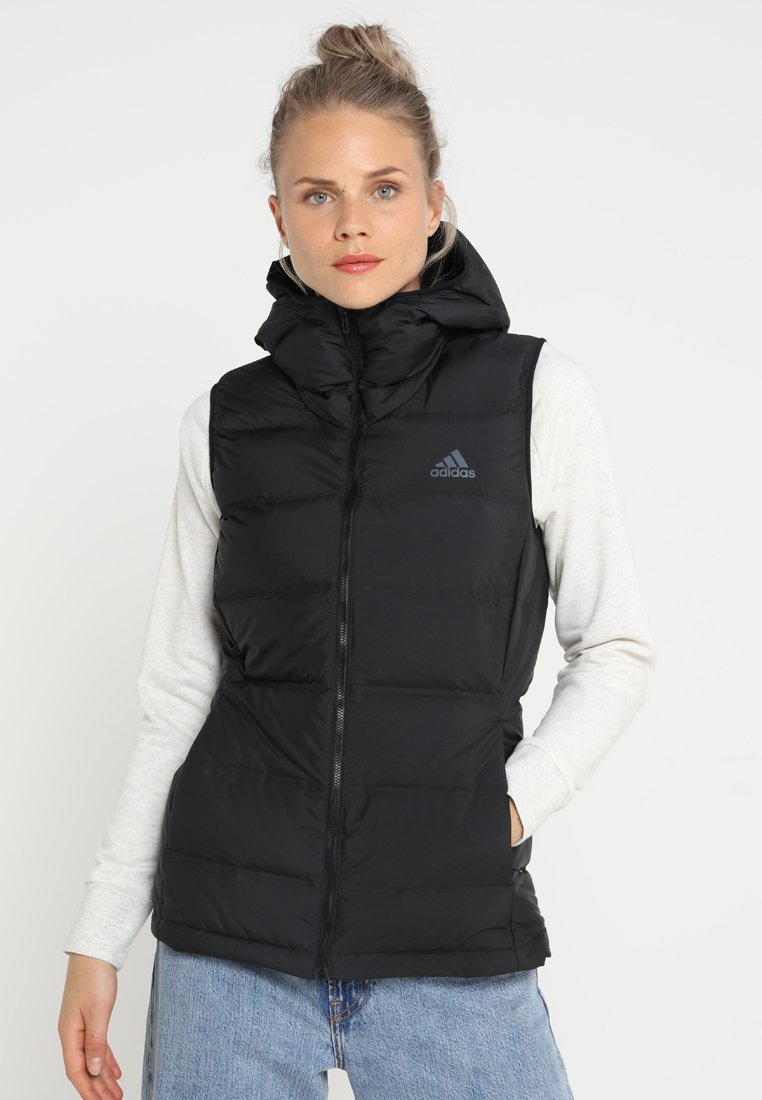 adidas Performance - HELIONIC DOWN VEST - Chaleco - black